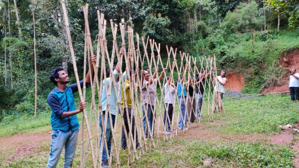 Bamboo workshop at Wayanad - Sep 2019